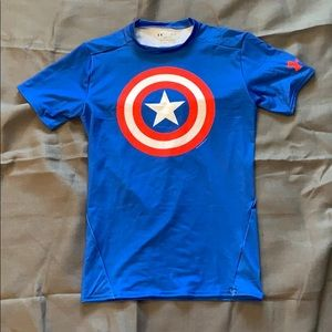 NWOTUnder Armour Captain America Compression Shirt